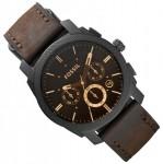 fossil uhr herren chronograph fs4656 lederband gents ebay. Black Bedroom Furniture Sets. Home Design Ideas