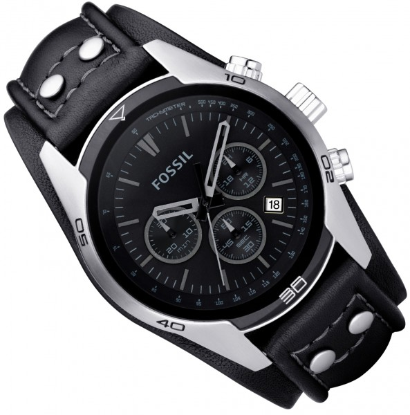 fossil uhr ch2586 herrenuhr sport gents chrono leder edelstahl chronograph ebay. Black Bedroom Furniture Sets. Home Design Ideas