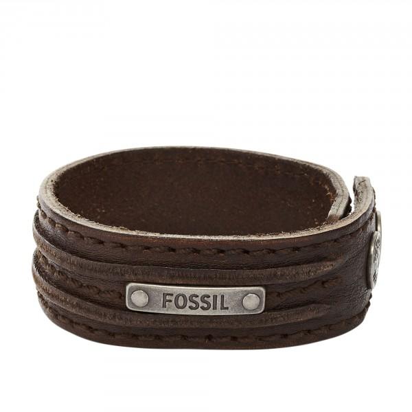 Uhren & Schmuck Fossil Herren Braun Lederband Armbanduhren