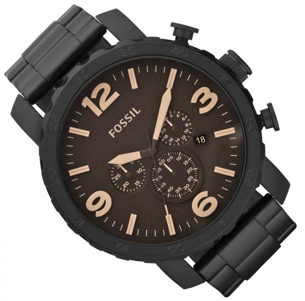 fossil herren uhr chronograph jr1356 ebay. Black Bedroom Furniture Sets. Home Design Ideas