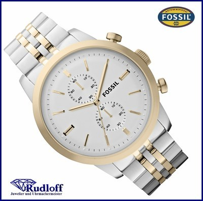 Fossil uhr silber gold