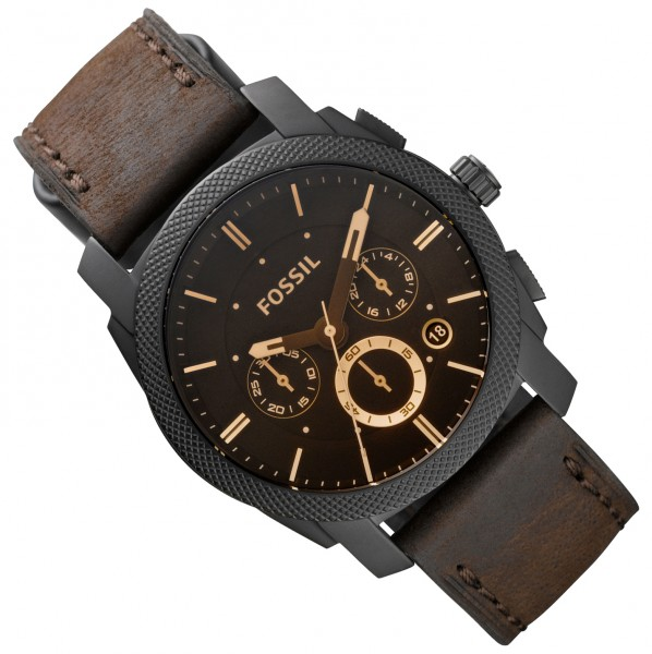 fossil uhr herren chronograph fs4656 lederband gents ebay. Black Bedroom Furniture Sets. Home Design Ideas