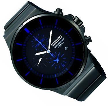 seiko uhr sndd59 herren chrono mens watch edelstahl chronograph ebay. Black Bedroom Furniture Sets. Home Design Ideas