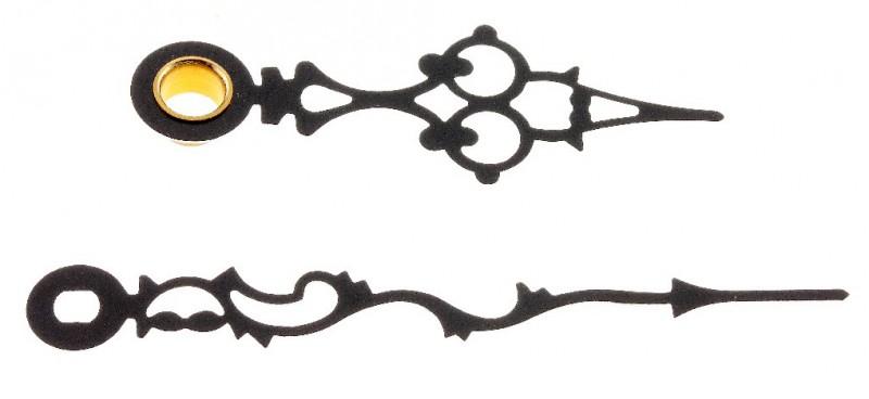 Uhrzeiger antik  Zeiger antik schwarz 87mm Quarz Wand Tischuhren Junghans 838 ...