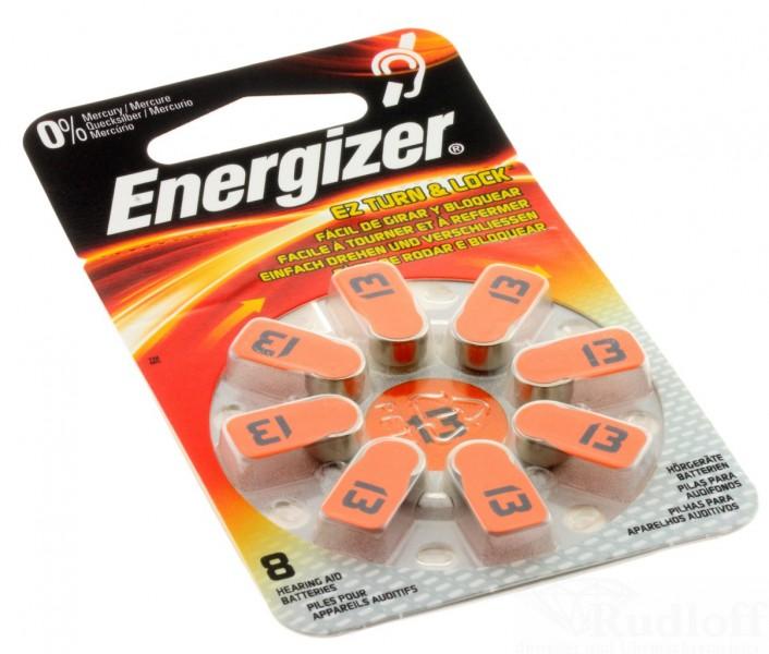 energizer h rger te batterie 8 st ck per pack az 13 zink luft hearing aid. Black Bedroom Furniture Sets. Home Design Ideas
