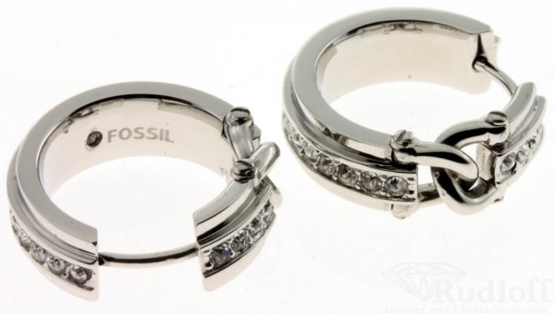 fossil schmuck jewelry jf00805 damen ohrringe edelstahl creolen jf00805040 ebay. Black Bedroom Furniture Sets. Home Design Ideas
