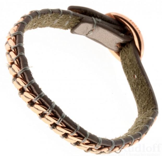 fossil schmuck jewelry ja6066 damen leder armband silbergrau ja6066791 ebay. Black Bedroom Furniture Sets. Home Design Ideas