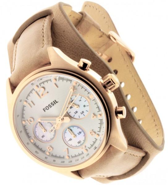 Damenuhren fossil lederarmband  FOSSIL UHR Damenuhr Flight CH2884 ladie´s wrist watch Steel Leder ...
