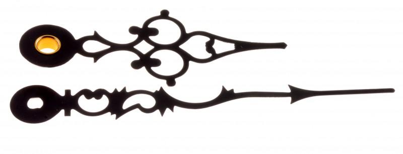 Uhrzeiger antik  Zeiger Antik Alu schwarz Quarz Wand Tischuhren Junghans 838 ,738 ...