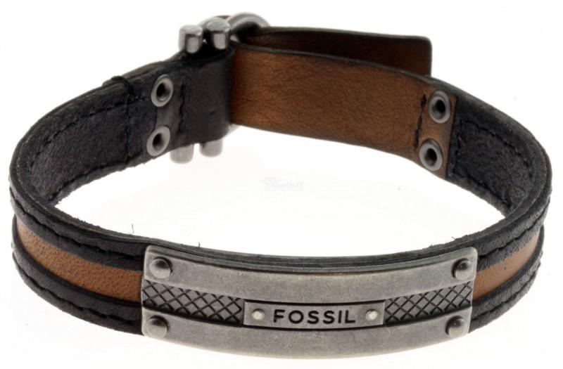 fossil jewellery men 39 s bracelet ja6155797 leather black. Black Bedroom Furniture Sets. Home Design Ideas