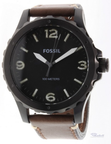 fossil nate herren uhr armbanduhr mit lederband jr1450 ebay. Black Bedroom Furniture Sets. Home Design Ideas