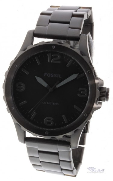 fossil nate medium herren uhr armbanduhr edelstahl schwarz. Black Bedroom Furniture Sets. Home Design Ideas