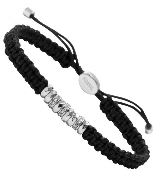 fossil schmuck damen armband schwarz ja5978040 textil. Black Bedroom Furniture Sets. Home Design Ideas