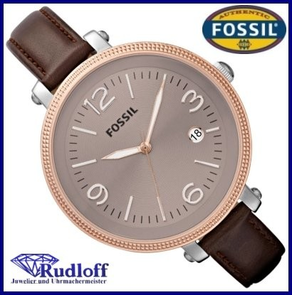 fossil uhr damenuhr es3132 heather leder stahl rose ladies. Black Bedroom Furniture Sets. Home Design Ideas