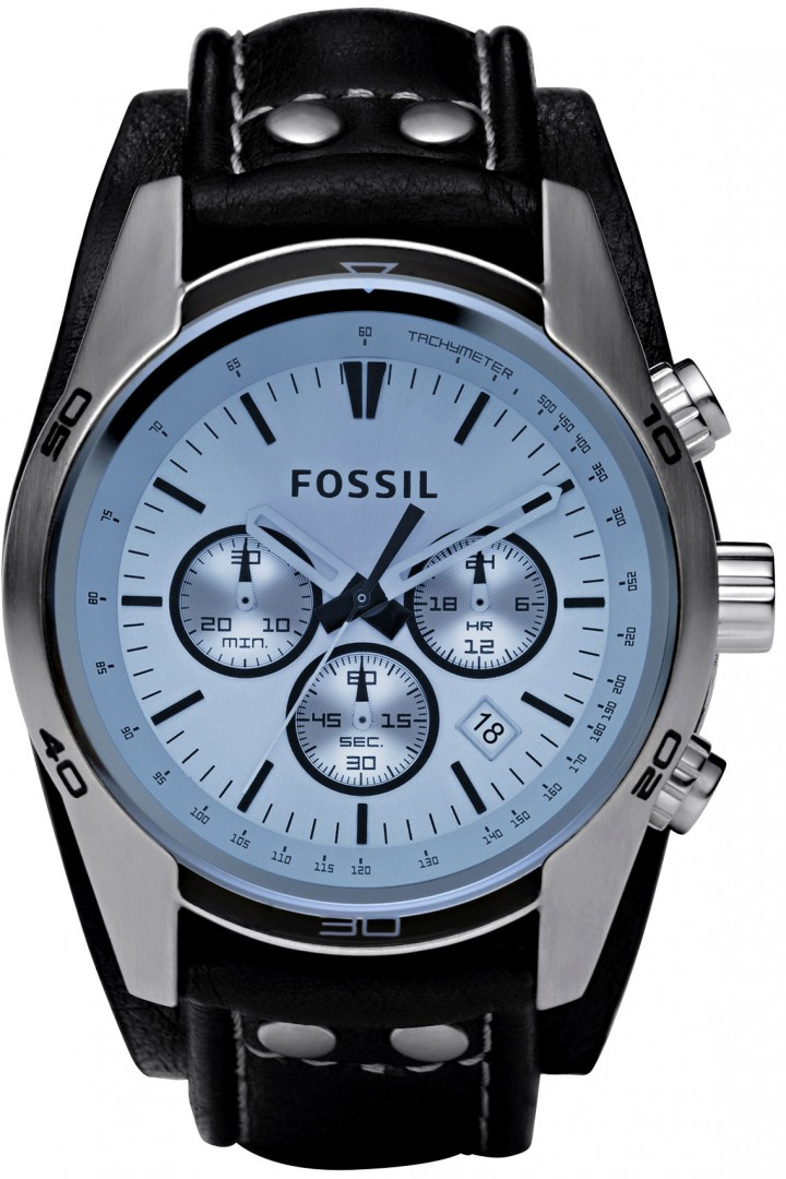 fossil uhr ch2564 herrenuhr sport gents chrono blaues. Black Bedroom Furniture Sets. Home Design Ideas
